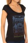 Psychedelic Shop Cap Sleeve Crew T-Shirt