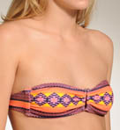 Mayan Stripe Bandeau Swim Top
