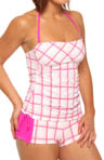 One and Only Plaid Bandini Swim Top