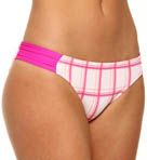 One and Only Plaid Aussie Tab Side Swim Bottom
