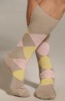 Classic Argyle Mid Calf Sock