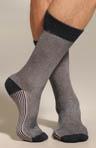 Two Color Birdseye Mid Calf Sock