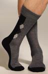 Diamond Side Panel Mid Calf Sock