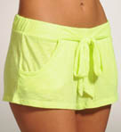 Cotton Blend Solid Short