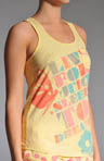 All A Flutter Graphic Racer Tank