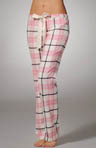 Plaid Flannel Pant with Silk Tie