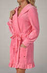 Velour Hooded Robe with Tie