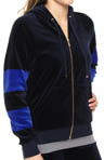 Yacht Stripe Velour Relaxed Hoodie