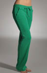 Terry Flared Leg Pant With Snap Pockets