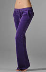 Velour Flare Leg Pant With Snap Pockets