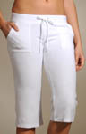 Terry Cropped Pant with Back Snap Pockets