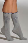 Cross With Rhinestones Socks