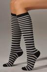 Wide Stripe Knee Sock