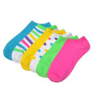 Assorted Bright Solid & Patterned Socks - 6 Pair