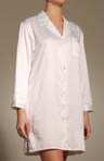 Embroidered Brush Back Satin Sleepshirt