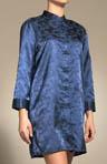Oriental Style Brush Back Satin Sleep Shirt