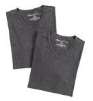 Super Fine Cotton V-Neck T-Shirts - 2 Pack