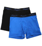Stretch Cotton Solid Boxer Briefs - 2 Pack