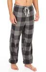 Checkered Cuff Leg Flannel Sleep Pants