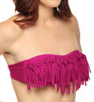 Solid Knotted Dolly Fringe Swim Top