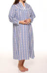 Plus Size Long Flannel Gown