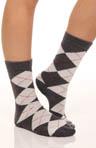 Argyle Poly Blend Trouser Socks - 2 Pair Pack