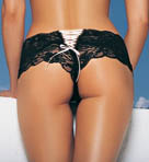Butterfly Lace Up Tanga Panty