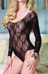 Bow Lace Long Sleeved Teddy