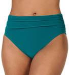 Solid Jersey Swim Bottom With Shirring