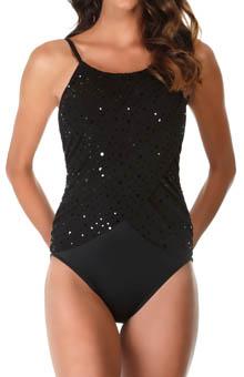 MagicSuit 475355 Stardust Lisa Draped Jersey One Piece Swimsuit