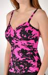 Camoflower Edi with Gripper Tankini Swim Top