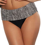 Swim Sense Fold Over Hi Waist Swim Bottom