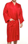 Striped Jacquard Kimono Robe