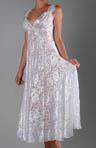 Burnout Satin 40's Gown
