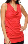 Shine Sleeveless Drape Neck Tank