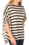 Heather Stripe Elbow Sleeve Poncho