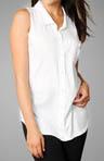 Sleeveless Shirt with Chest Pocket