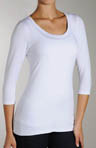 3/4 Sleeve Scoop Neck Shaping Top