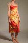 Fuji Printed Charmeuse Gown