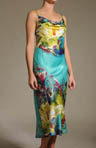 Awai Printed Charmeuse Gown