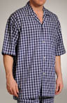 Storm Surge Plaid Short Sleeve Camp Sleep Shirt