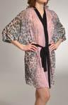 Luminous Leopard Printed Kimono Robe