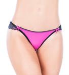 Lace Back Crotchless Panty