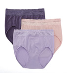 No Compromise Brief Panty with Lace - 3 Pack
