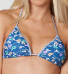 Daisy Cinched Triangle Swim Top