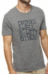 Drinks Well Crew Neck Graphic Tee