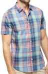 Short Sleeve Multicolor Plaid Heritage Fit Shirt