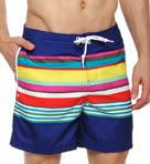 Fixed Volley Multi Striped Swim Short