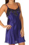 Twilight Lace Solid Charmeuse Chemise