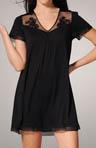 Elegant Touch Short Sleeve Lace Trim Sleepshirt